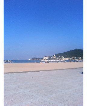 和歌浦、海辺のジョグ